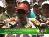 Estudiantes y profesores de la Universidad de Carabobo marcharon para exigir aumento salarial