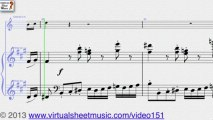 Mozart's Concerto in A major K622 sheet music for clarinet sheet music - Video Score