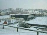 Promenade sous la neige au PORTEL PLAGE