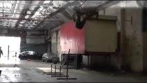 Backflip en BMX : gros gros FAIL! T'essayeras pas 2 fois!