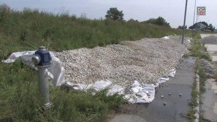 Hochwasser in Österreich - Ereignis in Berg / Staatsgrenze