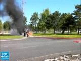 Exercice de lutte contre les violences urbaines au détachement air de Prunay-Belleville