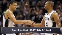 NBA Finals: Spurs Pound Heat; LeBron Off