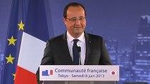 Discours du président de la République devant la communauté française de Tokyo