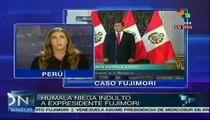 Peruanos y ONG saludan decisión de Humala de negar indulto a Fujimori