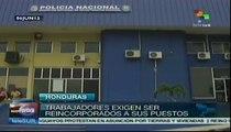 Funcionarios hondureños suspendidos exigen reincorporación laboral
