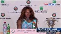 "Roland Garros / Williams: ""J'étais plus détendue"" - 08/06"