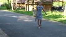 jeu raquette avec Mamie
