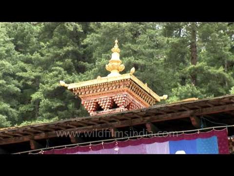 Golden temple top of Kujrey Temple, Bhutan
