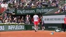 Des fumigènes pendant la finale de Roland Garros