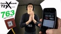 Мировой Рекорд - 802 хлопка в ладоши за 1 минуту