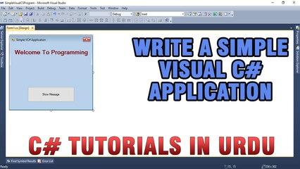 C# Tutorial In Urdu - Write a simple Program