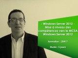 Formation Windows Server 2012 : mise à niveau des compétences vers le MCSA