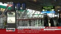 Peu de vols au départ et à l'arrivée de Lille