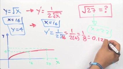 Calcular la raíz cuadrada de 27 con un diferencial