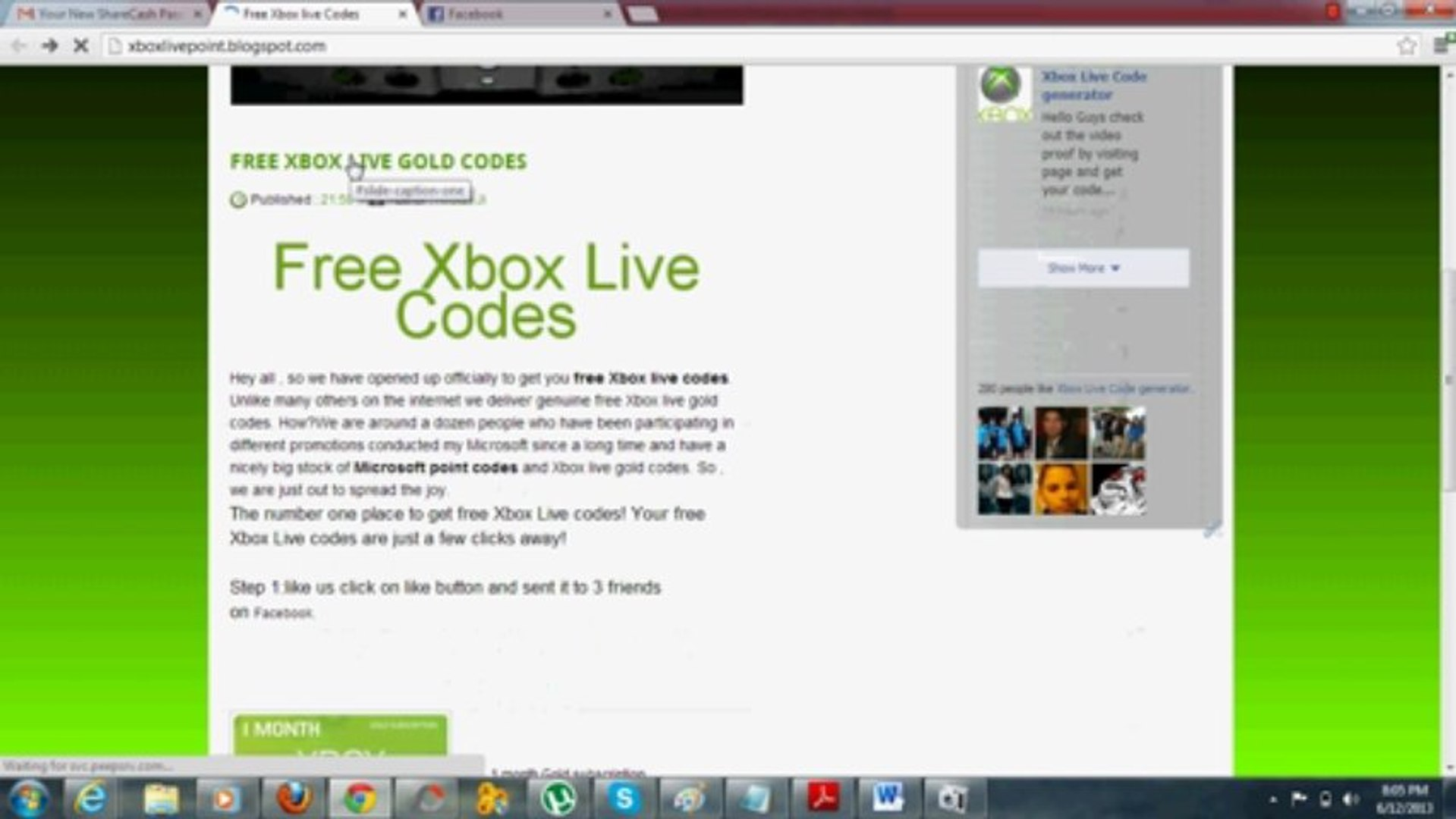 Get Free Xbox Gold Codes xbox live code for free - video dailymotion