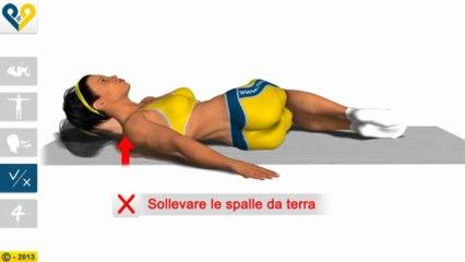 Allungamento lombare con rotazione delle ginocchia
