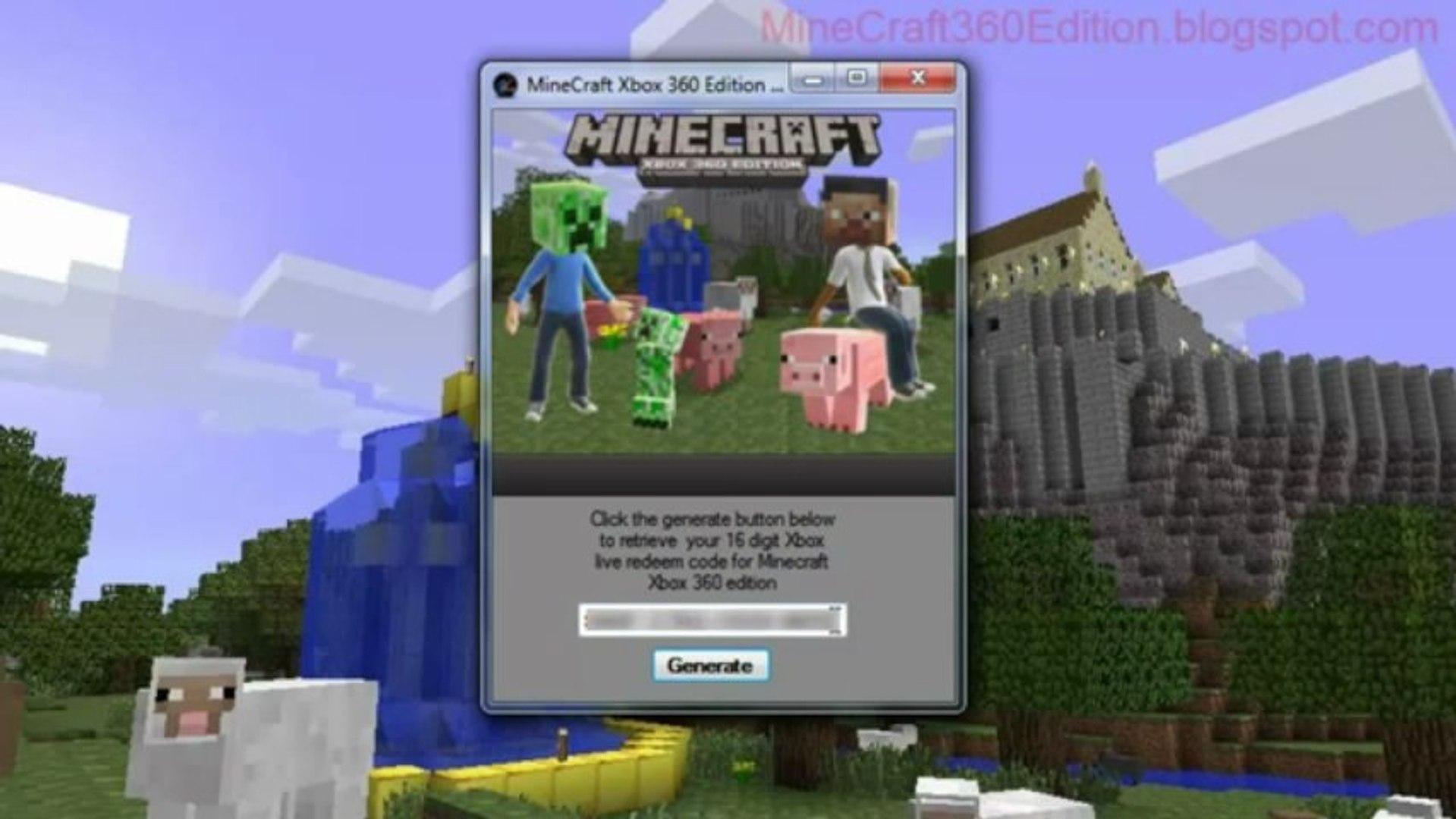 Minecraft Xbox 360 Edition Gift code generator 101% working setup exe