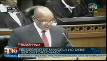 Nelson Mandela evoluciona favorablemente: Jacob Zuma