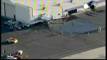 Crash dans un hangar, sans pilote dans l'avion