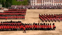 Soldier faints during Trooping the Colour parade