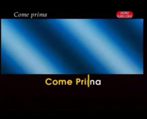 karaoke - Come Prima - Dalida