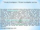 Private investigators-private investigation services