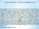 Private investigators-private investigation services