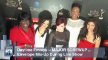 Awards and Events News Pop: Daytime Emmys -- MAJOR SCREWUP ... Envelope Mix-Up During Live Show
