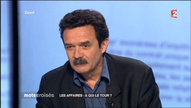 Arbitrage Tapie, l'hommage de Plenel à Bayrou, Mots Croisés - 170613