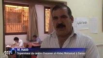A Damas, des lycéens syriens passent leurs examens
