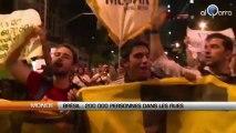Brésil : La population dans la rue