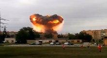 Russie: explosions en série dans un dépôt de munitions