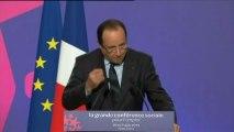 """Hollande à la Conférence sociale : """"Le sérieux budgétaire ne sera pas en France l'austérité"""""""