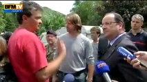 Hollande à Saint-Béat auprès des sinistrés - 20/06