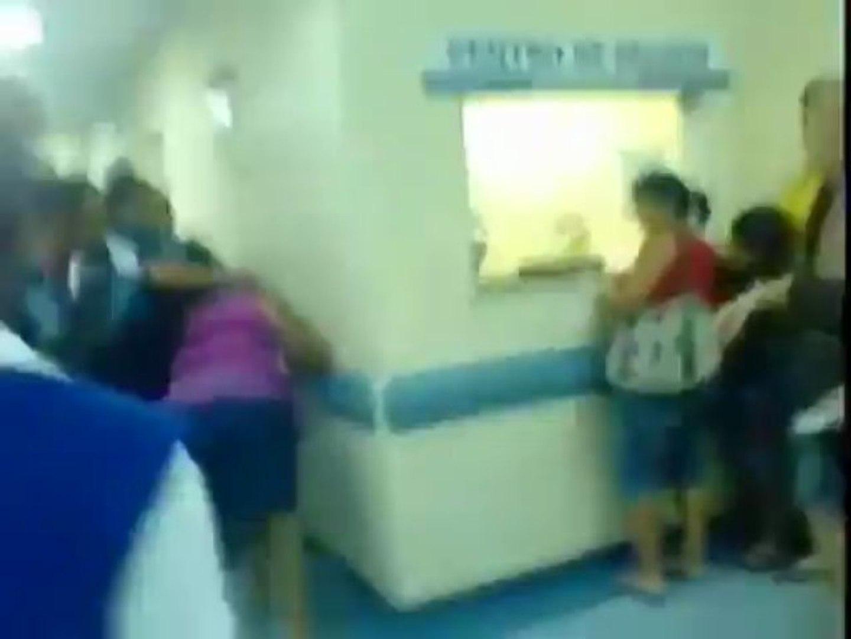 Policial usa spray de pimenta dentro do Hospital Estadual Rocha Faria/RJ