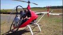 HUBAIRKIT l'helicoptere ulm en visite sur la base ulm Montpezat