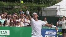 Rafael Nadal and Kei Nishikori played an Exhibition match at Hurlingham Club in London (21/06/2013)