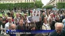 Rassemblement de soutien aux otages du Niger