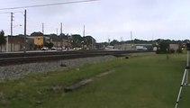 Norfolk Southern Intermodal and autorack train southeast through Austell Ga.
