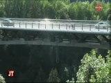 Saut à l'élastique au pont de Saint-Gervais