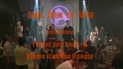 Anthracite cover I want you back & Blame it on the Boogie jackson five orchestre variété