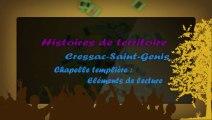 HISTOIRES DE TERRITOIRE A CRESSAC: CHAPELLE TEMPLIERE