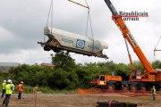 Déraillement d'un train à Metz, les wagons s'envolent