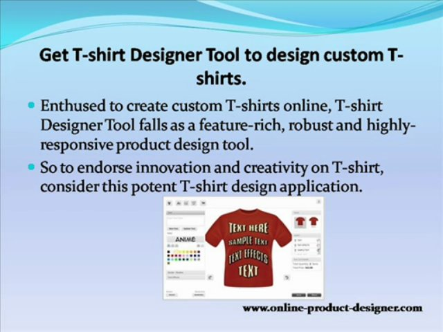 Online-Product-Designer: A fully-customized solution to form products custom-made.