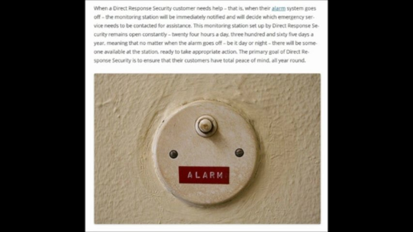 Direct Response security – Monitoring your home security