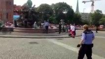Völlig unverhältnismäßiger Einsatz der Berliner Polizei am 28. Juni 2013 am Berliner Neptunbrunnen