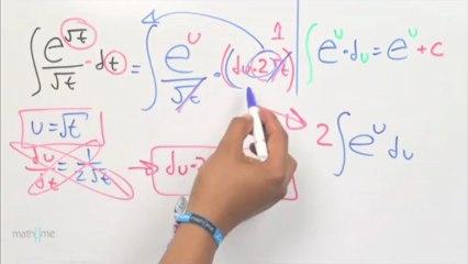 Integral de [e^(raíz cuadrada de t)]_(raíz cuadrada de t)