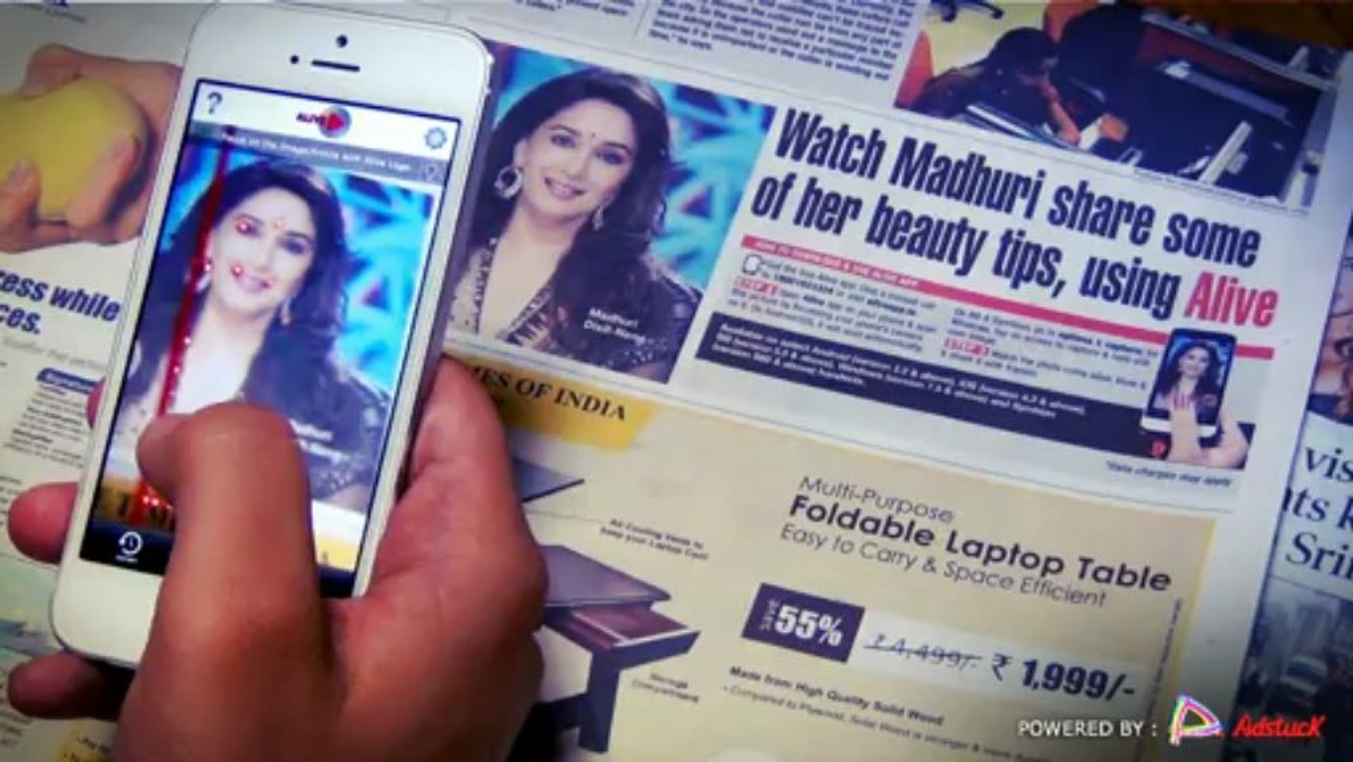 Watch Madhuri share some of her beauty tips using Alive