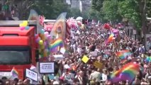 Paris stages first Gay Pride since legalisation of gay marriage - video